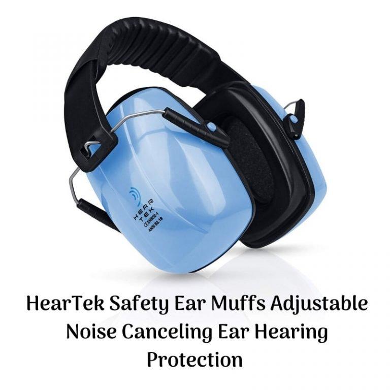Heartek safety earmuffs adjustable noise canceling: