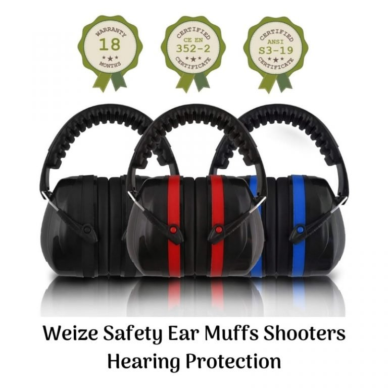 Weize safety earmuffs shooters hearing protection folding